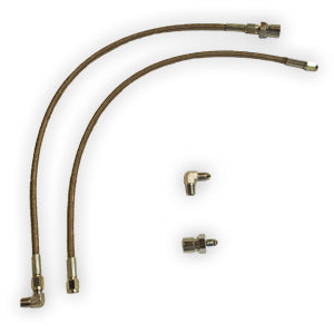 Aerospace Front Brake Hose Kit For 3/8-24 Hardline Fitting