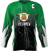 Load image into Gallery viewer, Official Megamen Hockey Jersey (Green Custom)