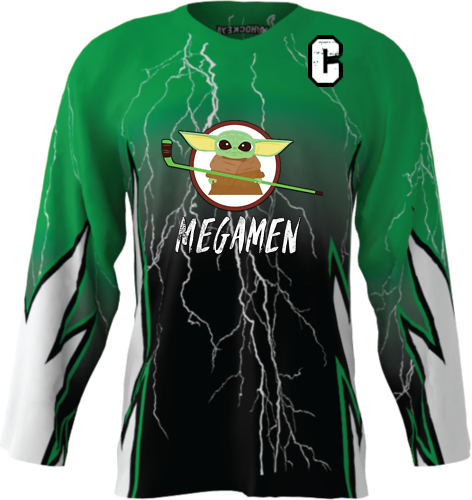 Official Megamen Hockey Jersey (Green Custom)
