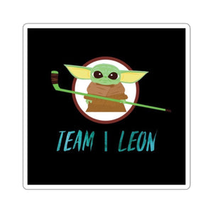 "The Baby ""Team Leon"" Hockey Sticker"