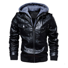 Load image into Gallery viewer, Men's Hooded Faux Jacket