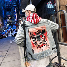 Load image into Gallery viewer, Men's Graffiti Denim Jacket