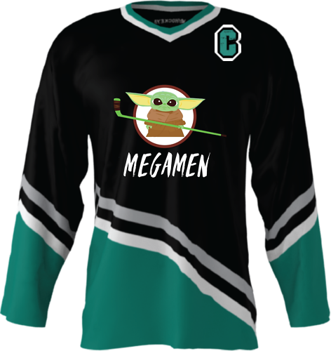 Official Megamen Hockey Jersey (Black Custom)
