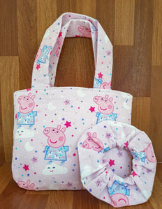 Peppa Pig Scrunchie + Bag Giftset