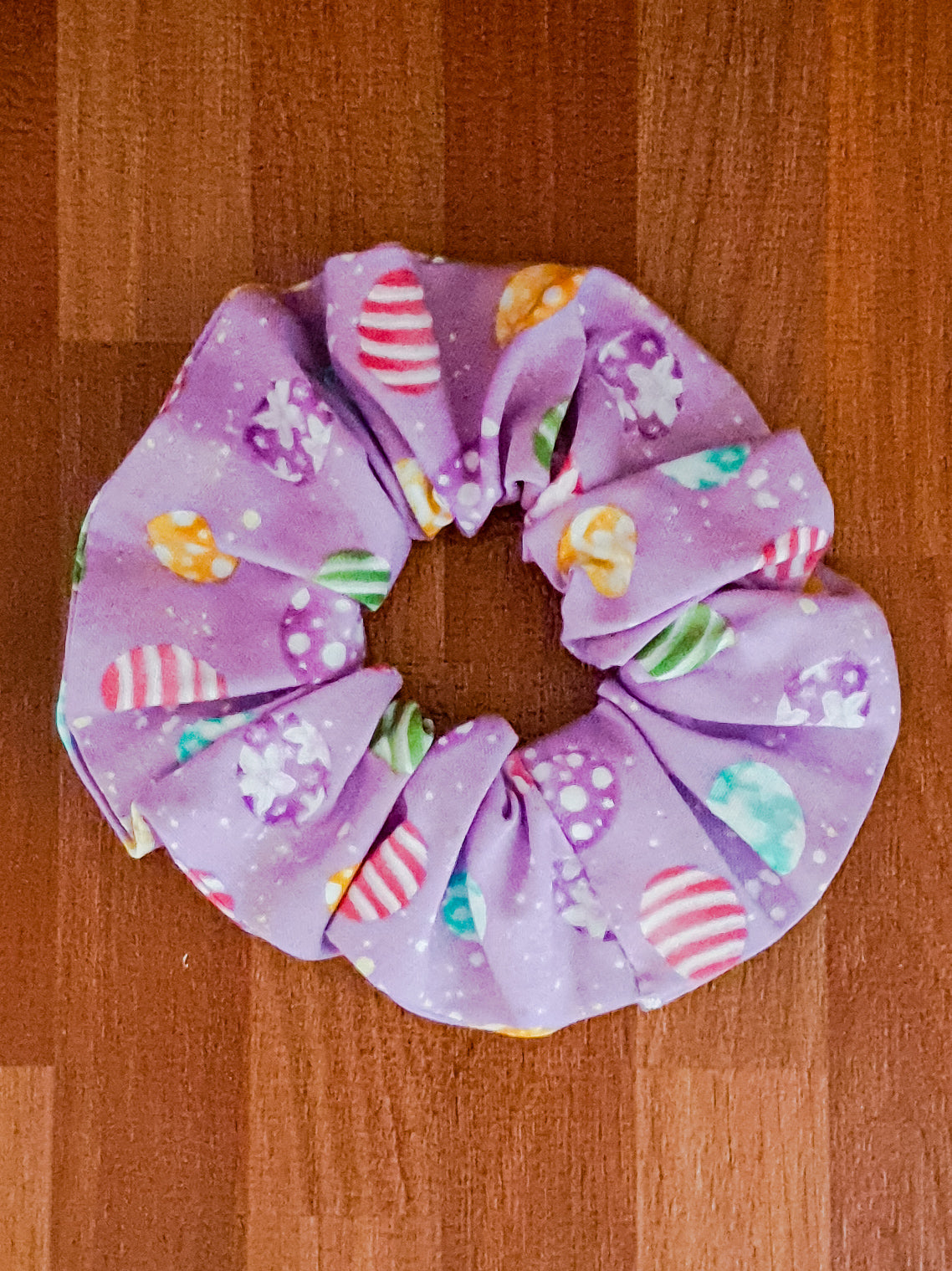 Purple Easter Egg Scrunchie