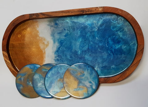 Resin Serving Board- Oval Shaped.
