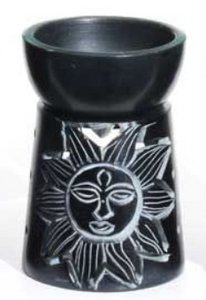 Small Black Oil Burner 9cm