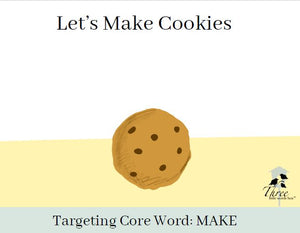 Core Word Story Digital Download: Let's Make Cookies