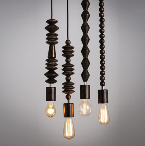 Rosco Timber Bead Pendant Lights