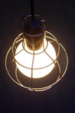 Industrial Wire Pendant Light - Silver