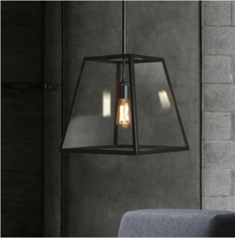 Rubin Vintage Box Pendant Light