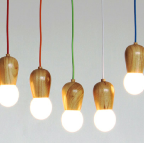 Candy Coloured Wooden Pendant Lights