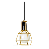 Industrial Wire Pendant Light - Gold