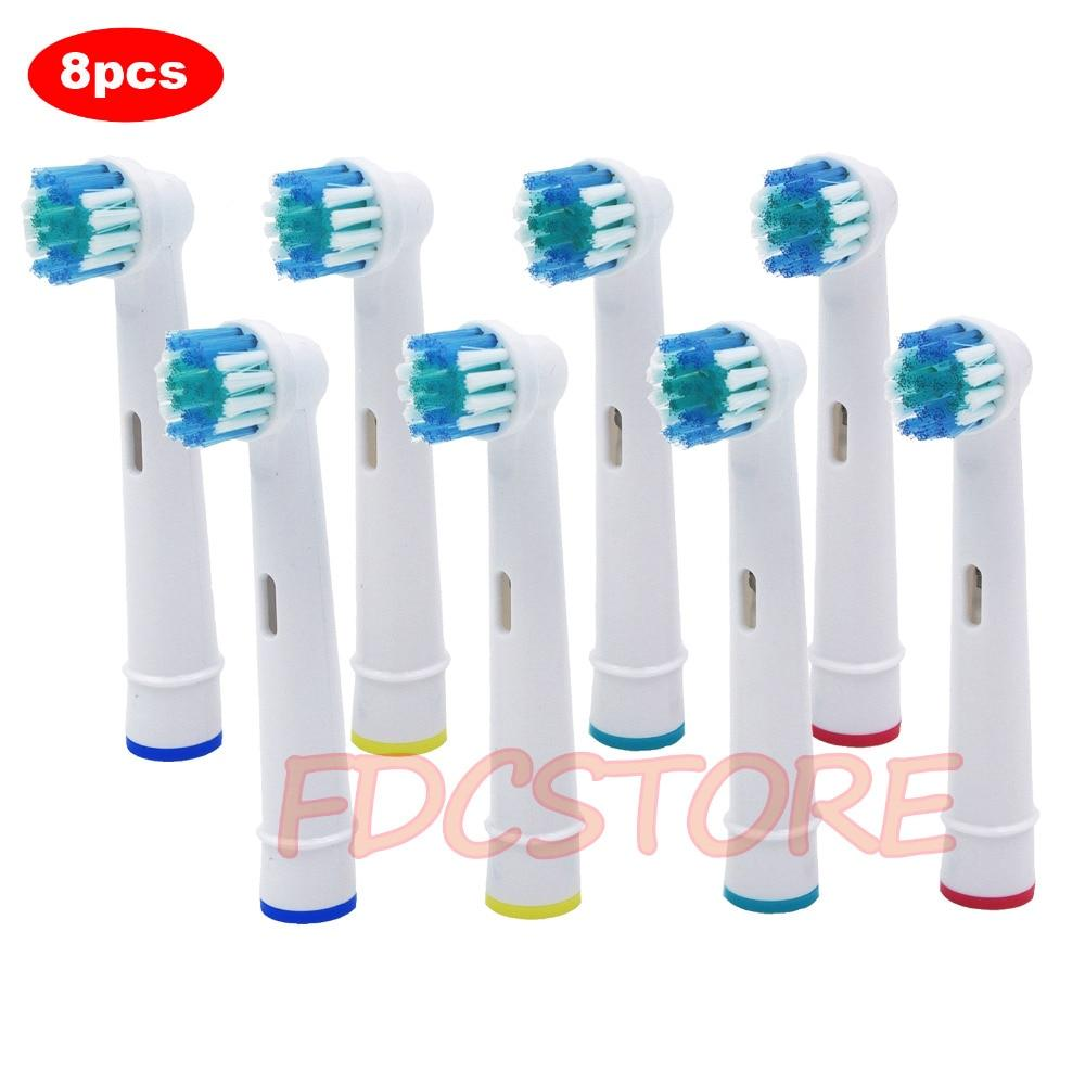 8x Replacement Brush Heads For Oral-B Electric Toothbrush Fit Advance Power/Pro Health/Triumph/3D Excel/Vitality Precision Clean - goshopship