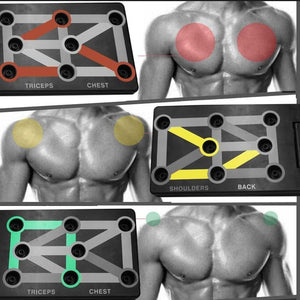 9 in 1 Portable Push Up Board with Instruction For GYM Body Training - goshopship