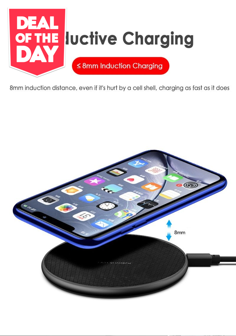 1pcs Ultra Slim QI Wireless Quick Charger
