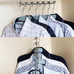 Multi-function Nine-hole Rotating Magic Hanger - Space Saving Closet For Clothes - goshopship