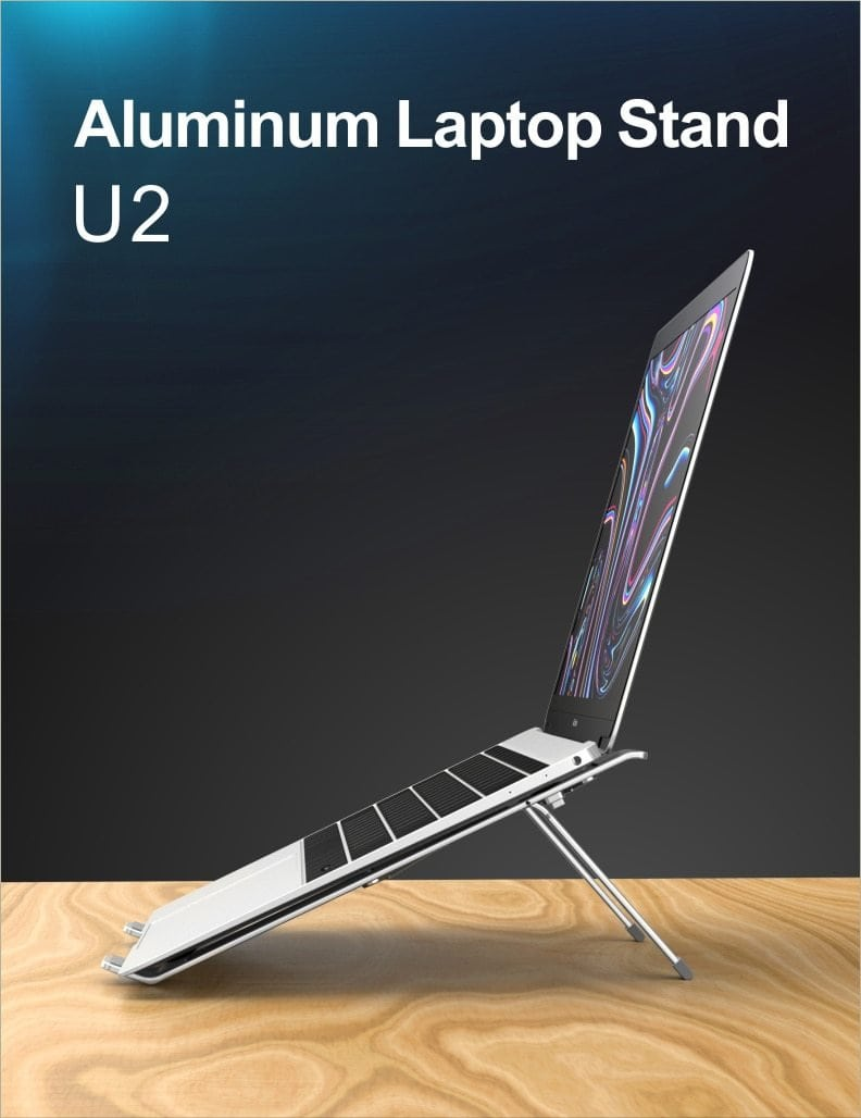 Portable Ergonomic Aluminum Laptop Stand (up to 17 inch) - goshopship