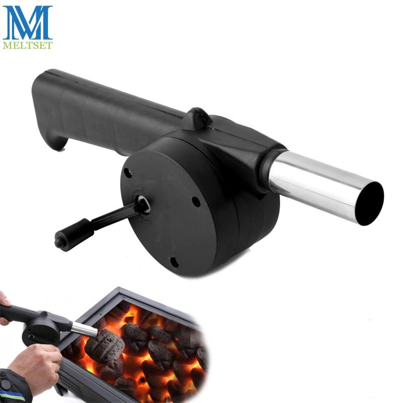 Portable Barbecue Fan Hand-cranked Air Blower
