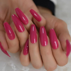 Glossy Colourful Press on Nails | UV Gel Glue