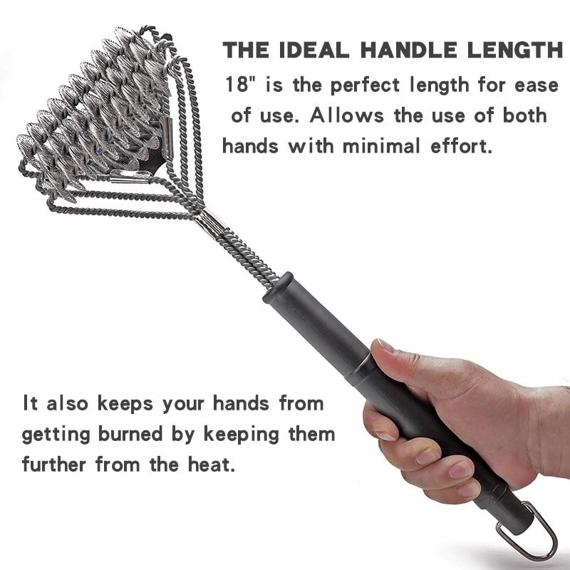 Grill Brush and Scraper - Extra Strong BBQ Cleaner Accessories