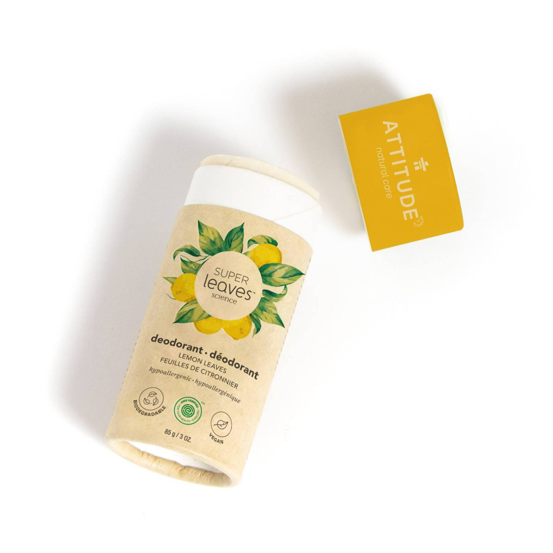 plastic free natural deodorant - lemon leaves (super leaves™)