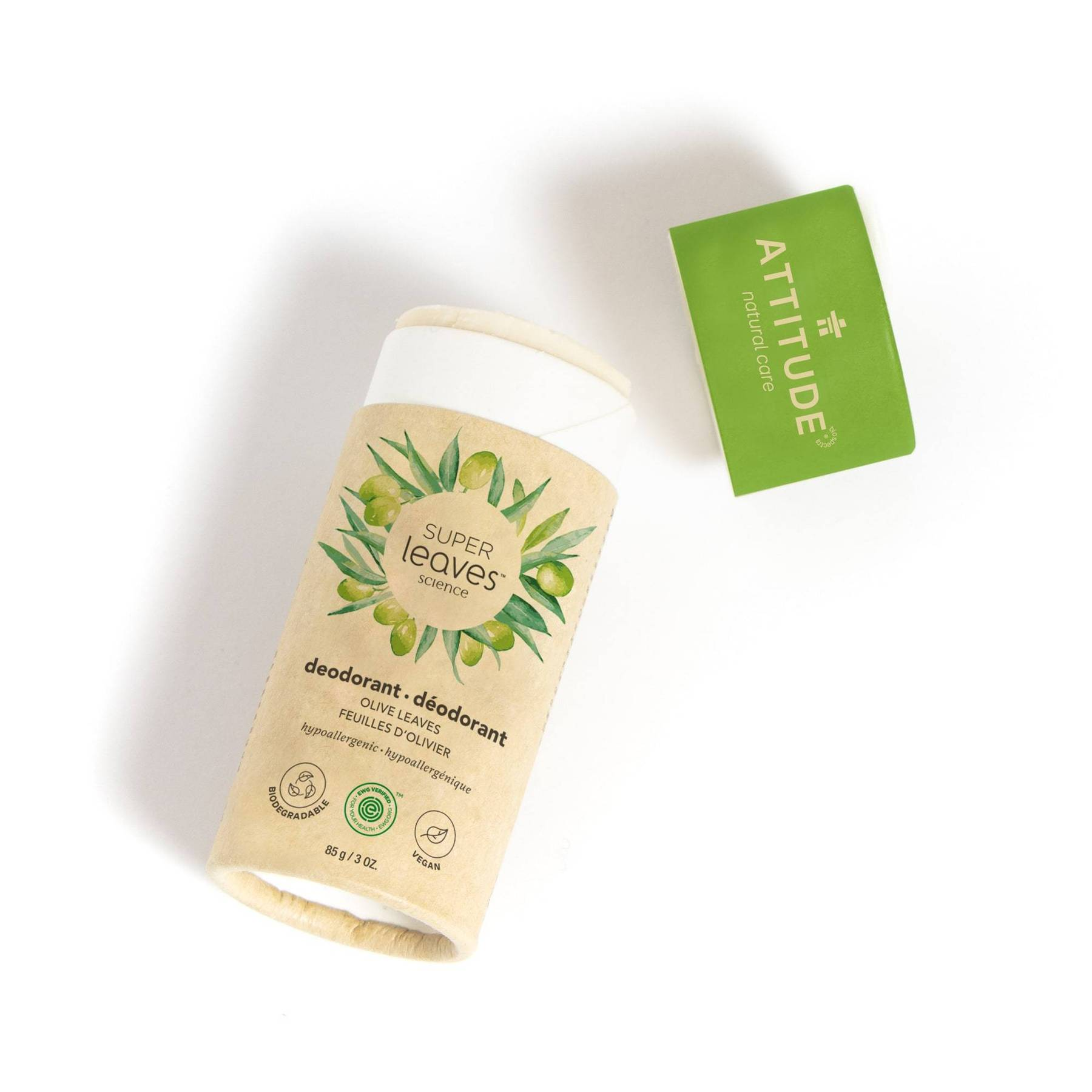plastic free natural deodorant - olive leaves (super leaves™)