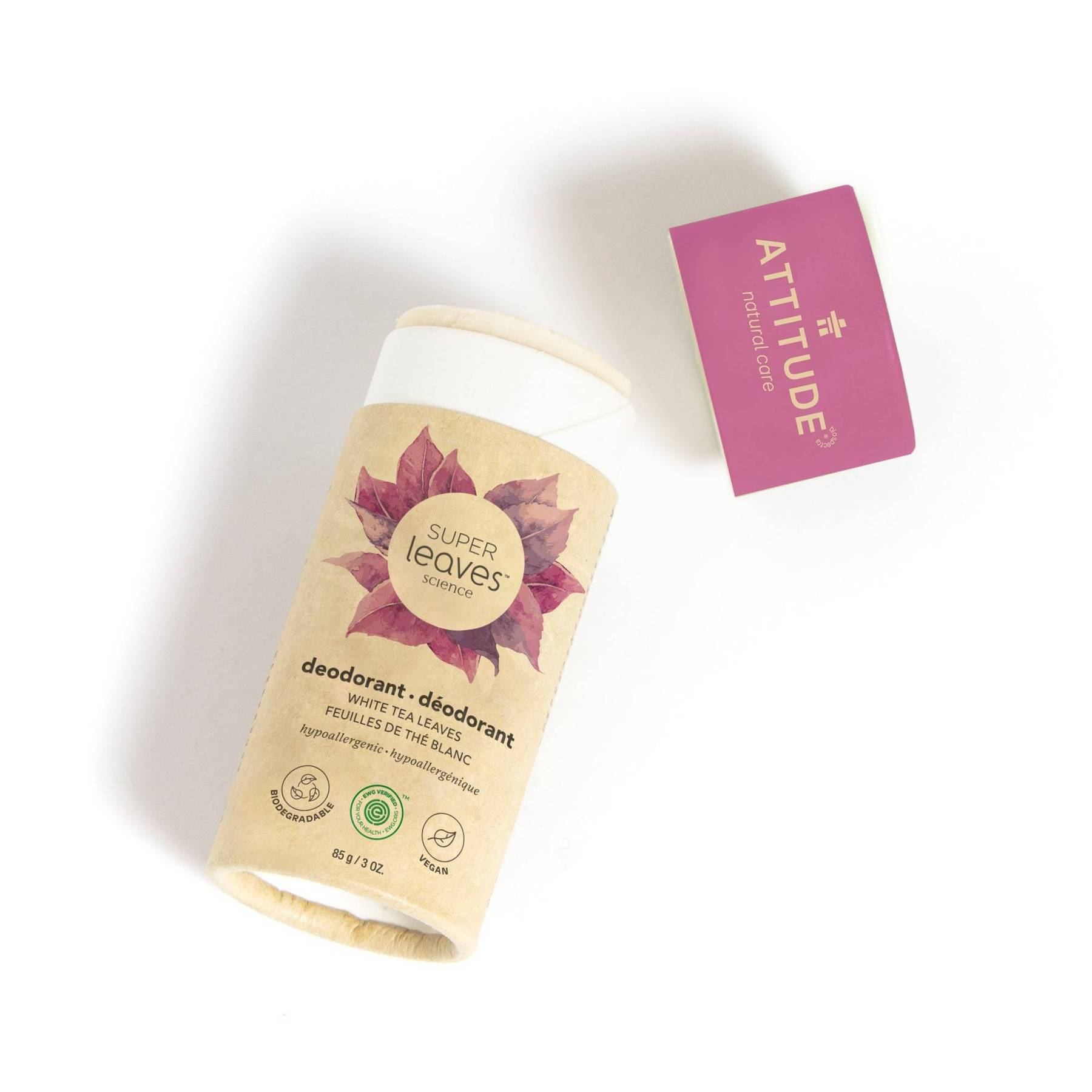 plastic free natural deodorant - white tea leaves (super leaves™)