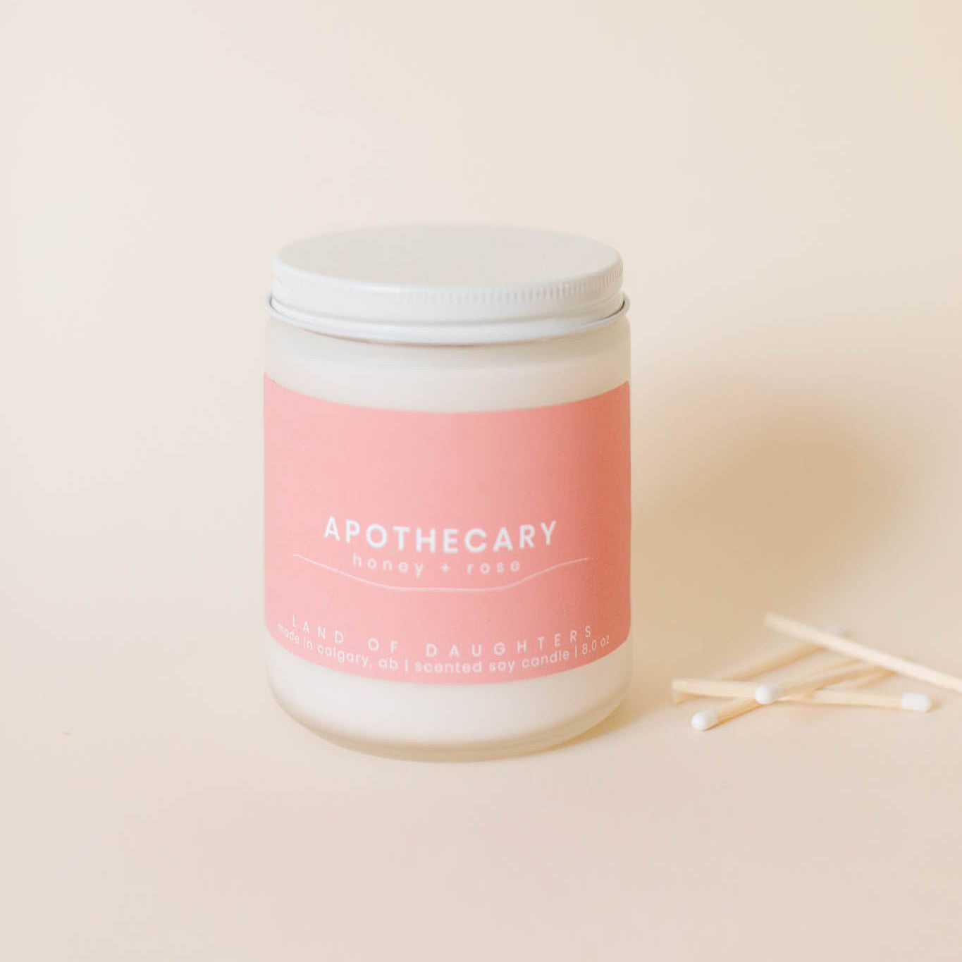 apothecary (honey + rose) - all natural organic scented candle