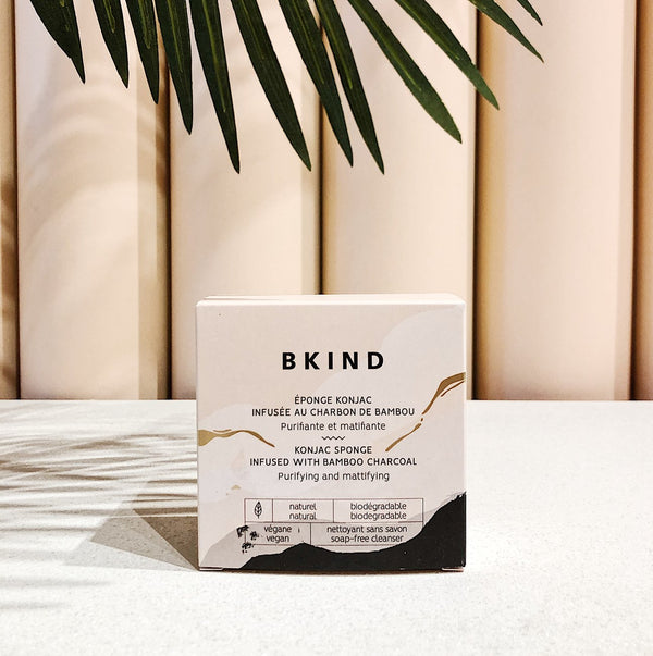 BKIND | konjac sponge with bamboo charcoal - EcoFreax | Think Bigger.
