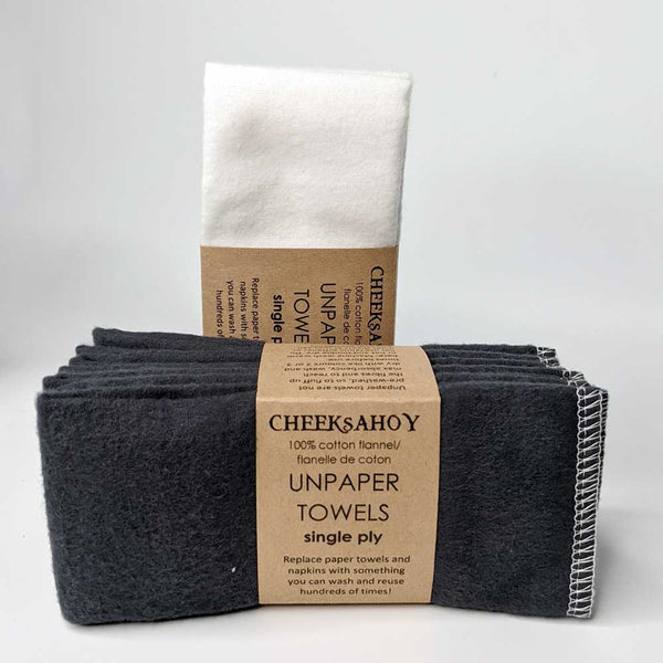 Cheeks Ahoy | unpaper towels | cotton flannel reusable kitchen cloth | 1-ply