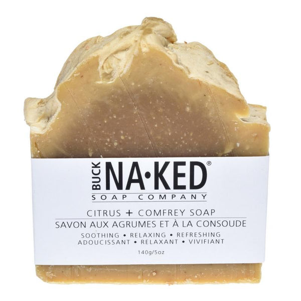Buck Naked | citrus & comfrey vegan soap bar - EcoFreax | Think Bigger.