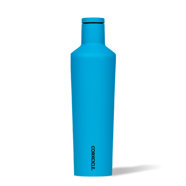 Corkcicle 25oz. Canteen Water Bottle | Neon Blue - EcoFreax | Think Bigger.