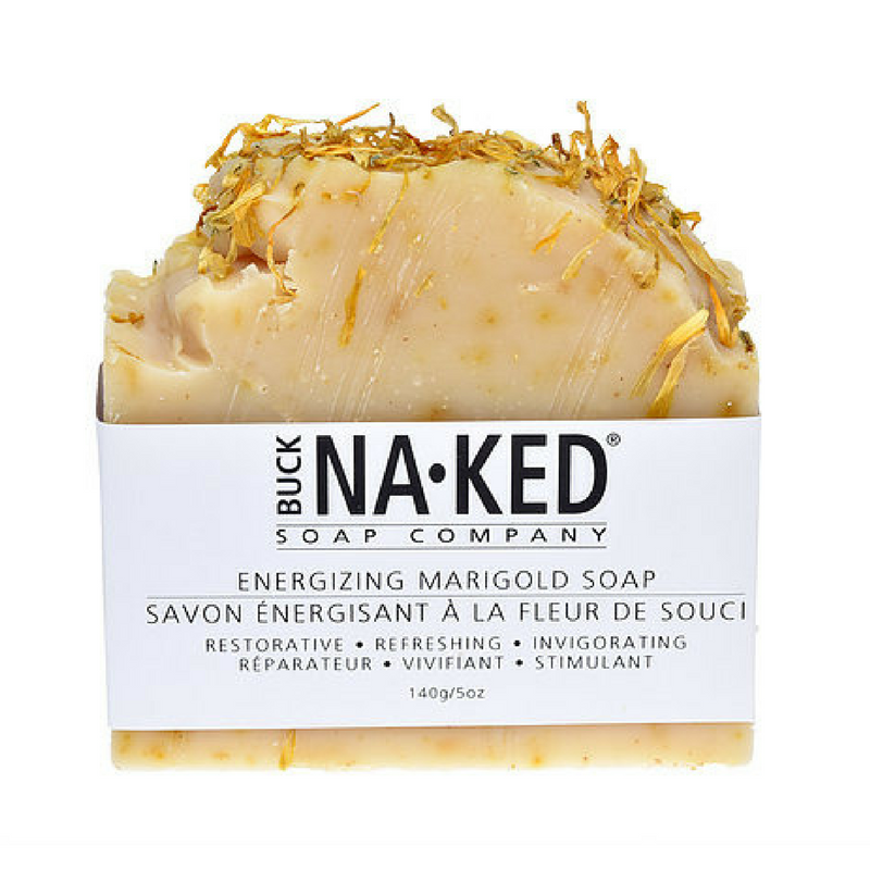 Buck Naked | energizing marigold vegan soap bar - EcoFreax | Think Bigger.
