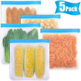 reusable food ziplock sandwich snack freezer bags