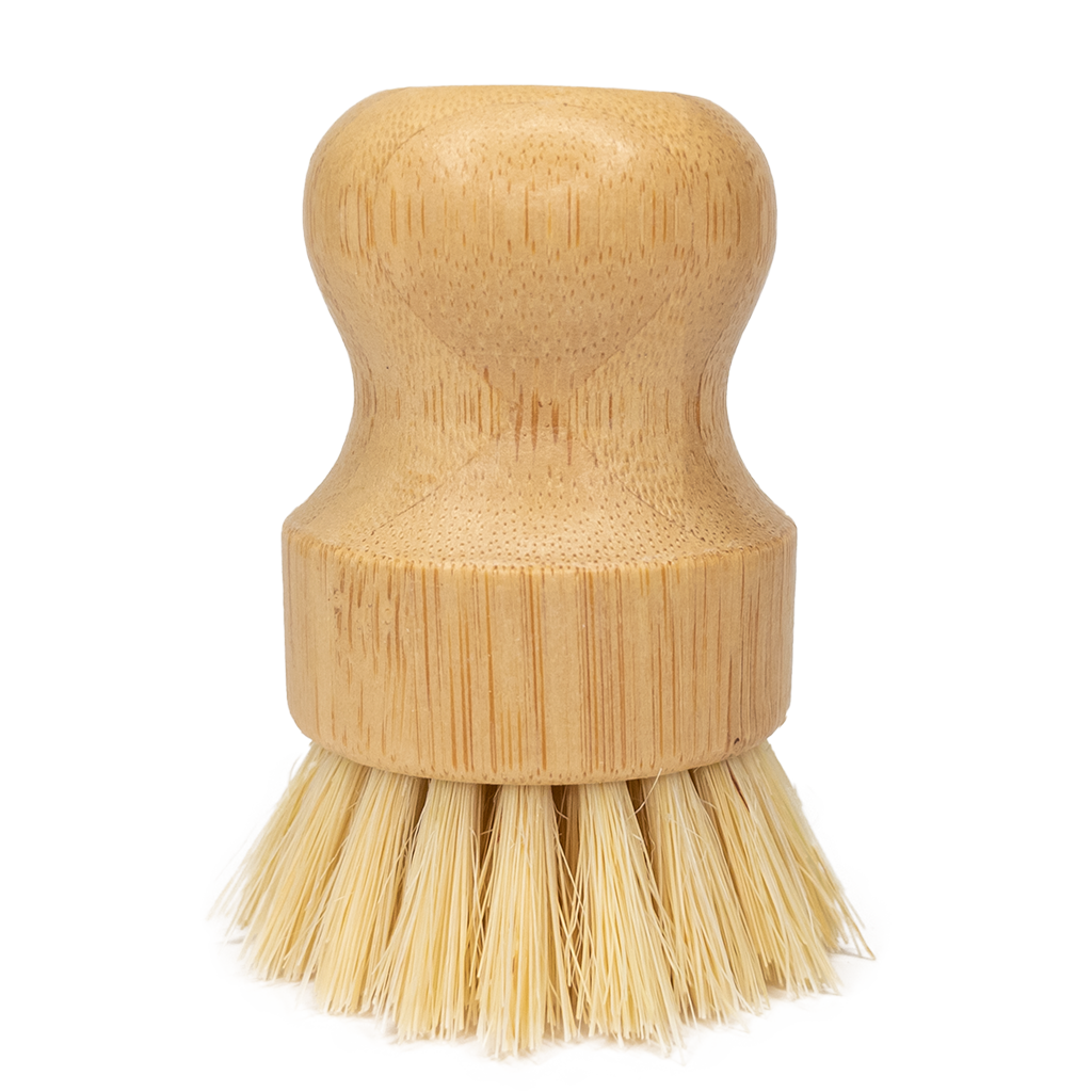 Sisal Mini Scrub Brush Bamboo Dish Scrubber - EcoFreax | Think Bigger.