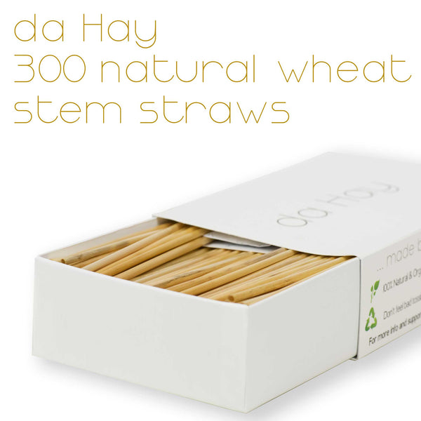 da Hay Natural Organic Biodegradable Wheat Drinking Straws - EcoFreax | Think Bigger.