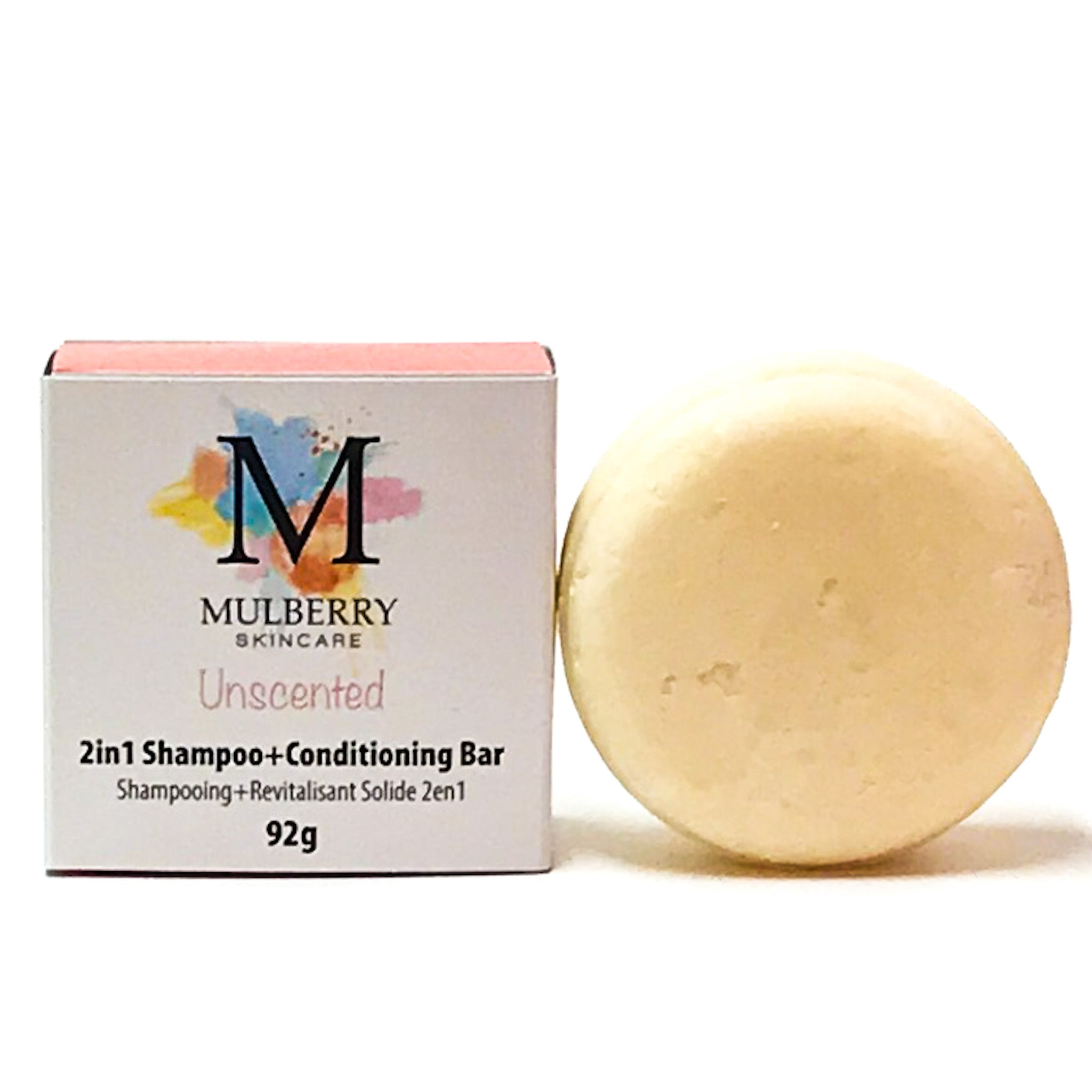 2-in-1 solid shampoo + conditioner bar | unscented