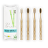 Mixed Bamboo Toothbrush Set | Medium Hardness | Adult Size (Set of 4) - EcoFreax | Think Bigger.
