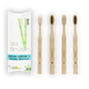 Mixed Bamboo Toothbrush Set | Medium Hardness | Adult Size (Set of 4)