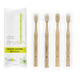 Natural Bamboo Toothbrush Set | Medium Hardness | Adult Size (Set of 4)
