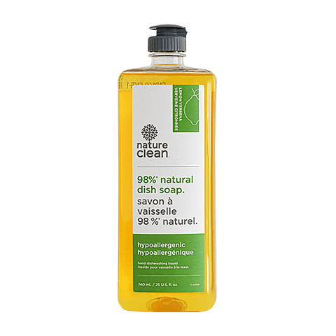 hypoallergenic natural dish soap - lemon verbena | nature clean