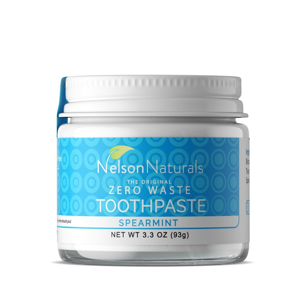 spearmint zero-waste vegan toothpaste