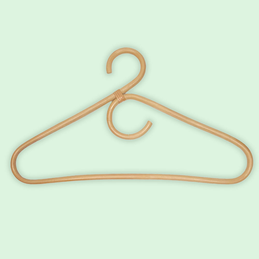 natural rattan handmade clothes hanger