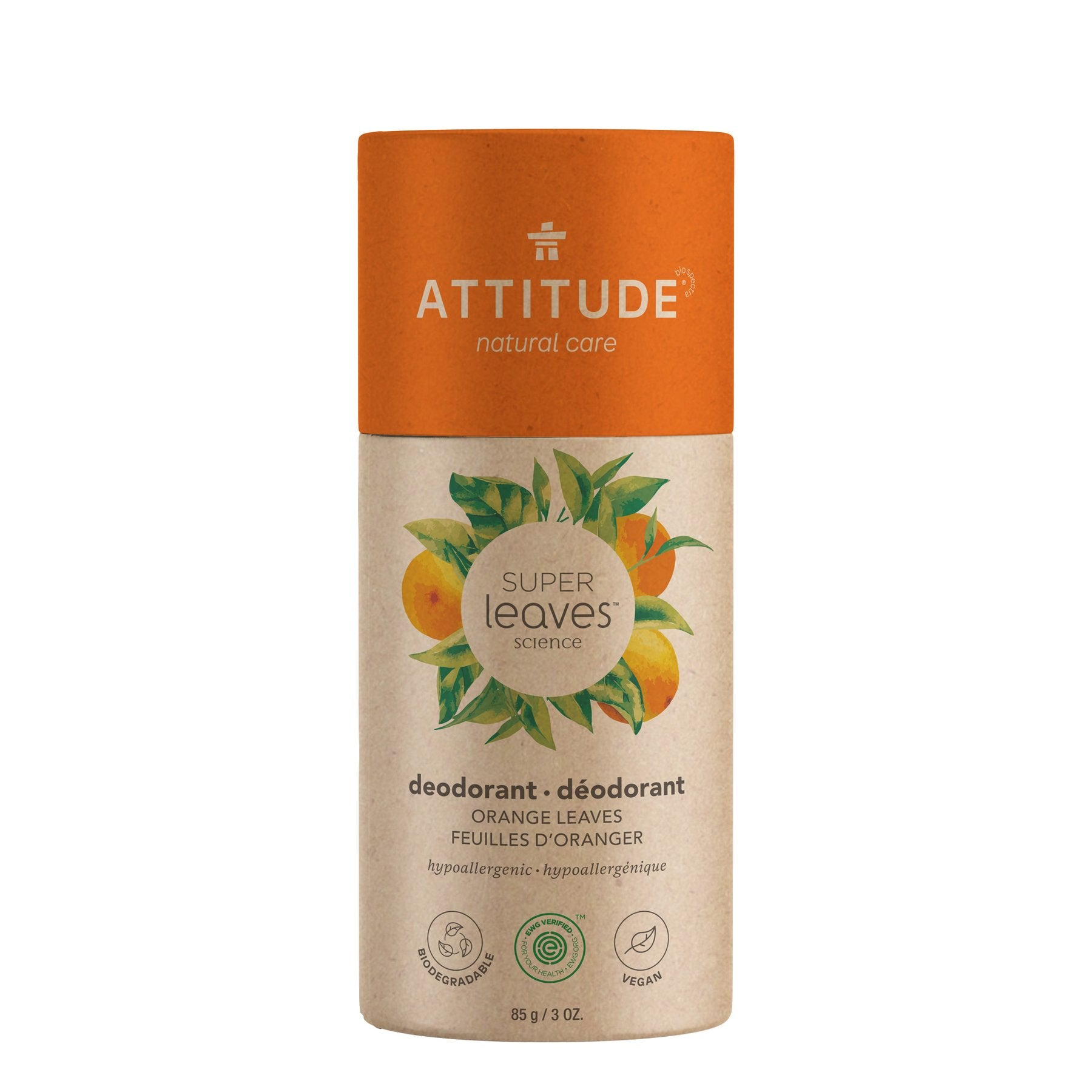 plastic free natural deodorant - orange leaves (super leaves™)