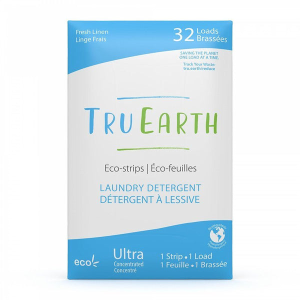 TRU EARTH | eco-strips laundry detergent fresh linen 32 loads - EcoFreax | Think Bigger.
