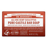 pure organic castile solid soap bar - eucalyptus | Dr. Bronner's