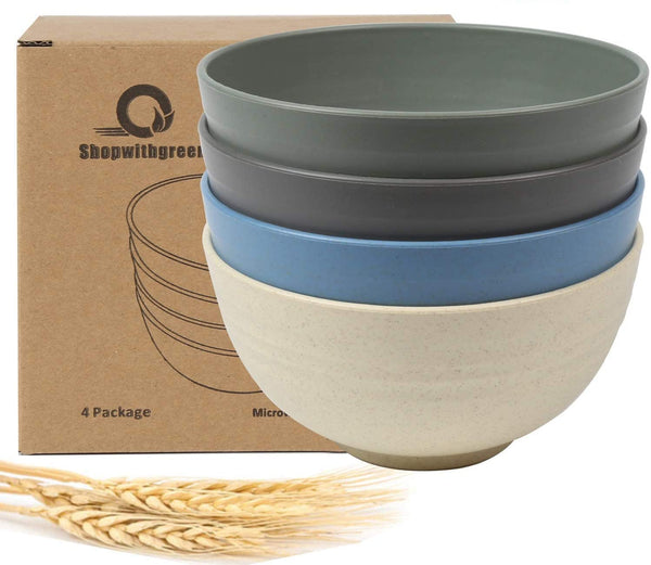 Kids Cereal Bowls - 24 OZ Wheat Straw Fiber Unbreakable Lightweight Bowl Set - EcoFreax | Think Bigger.