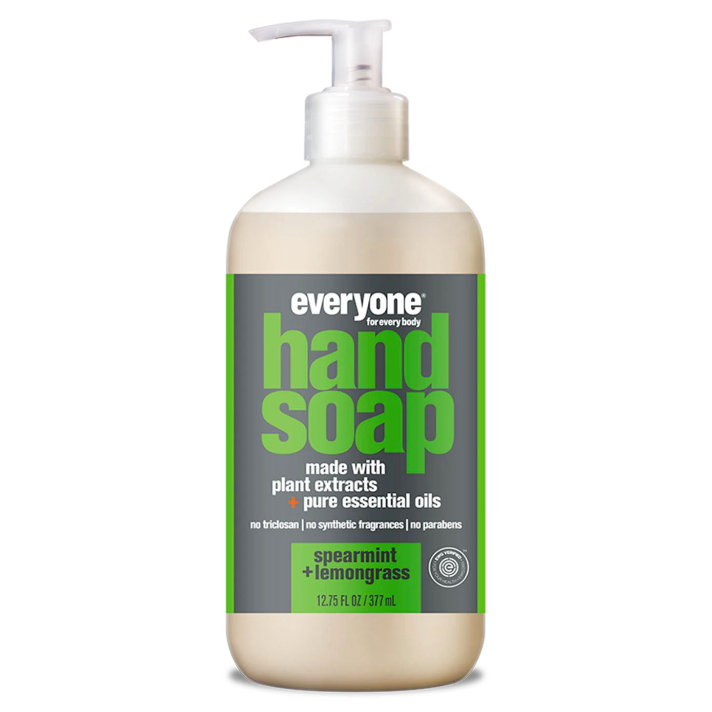 plant based liquid hand soap - spearmint + lemongrass