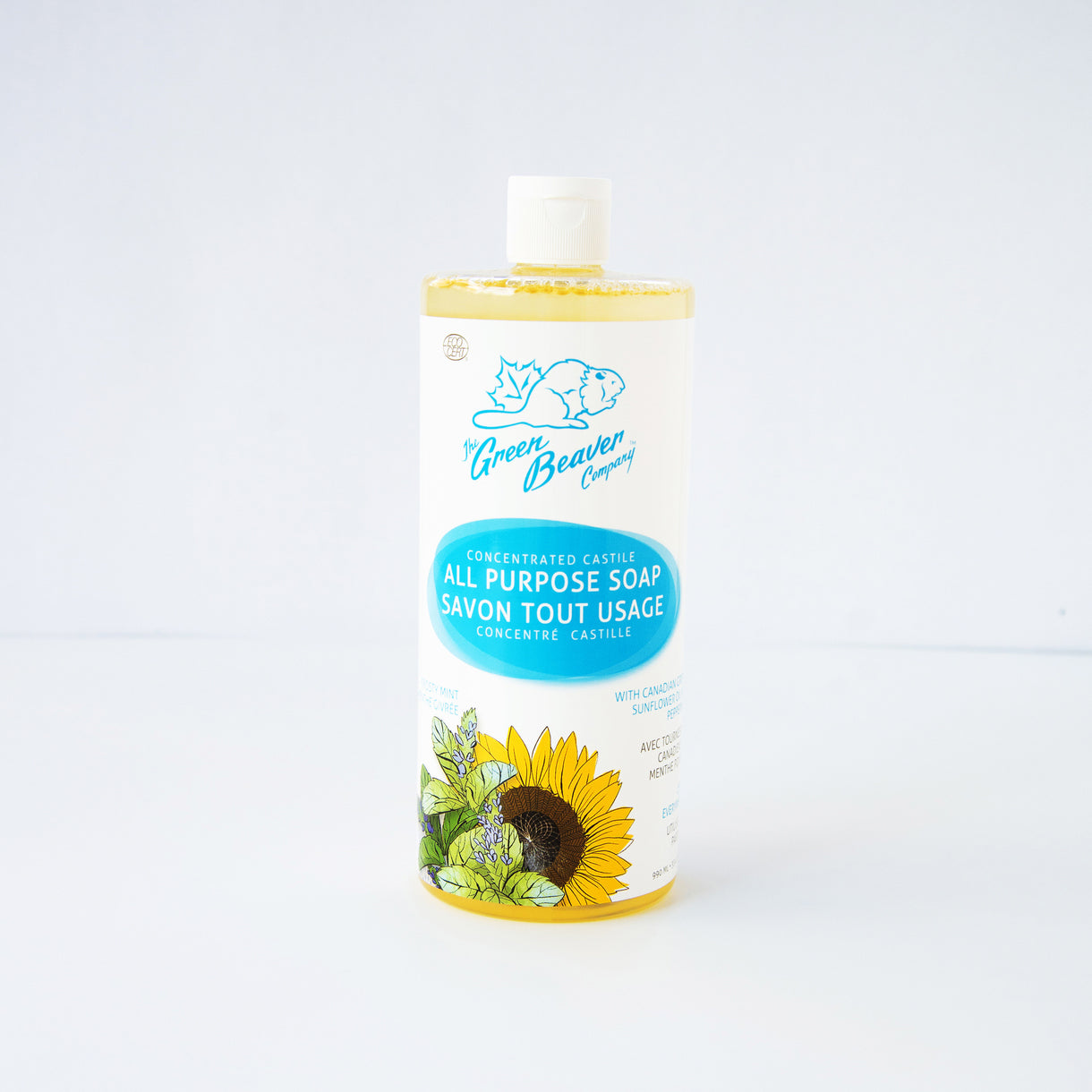 all purpose castile sunflower soap concentrate - frosty mint | Green Beaver